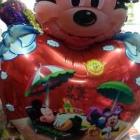 balon foil kepala mickey love merah/heart/balon murah/karakter/lucu