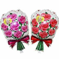 balon foil bouquet/rose/bunga/balon bunga i love you/balon romantis