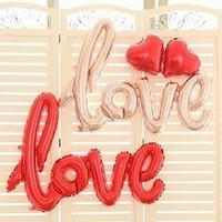 balon foil tulisan love/ balon karakter love