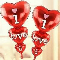 balon foil love/i love you/balon tingkat/balon heart-cinta/romantis