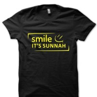 KAOS T-SHIRT SMILE IT'S SUNNAH