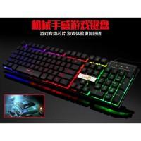 Keyboard Gaming Semi Mechanical LED Backlight, No Lag ,Anti Ghosting