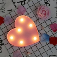 Pink Love Led Light - Lampu Hias shabby pink