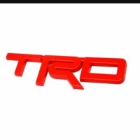 Emblem TRD Toyota Merah Red