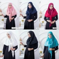 Hijab /jilbab  Segi tiga  Rubiah / Segitiga Rubiah yello
