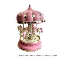 Souvenir Gift Kotak Musik/Music Box Komedi Putar / Carousel Merah