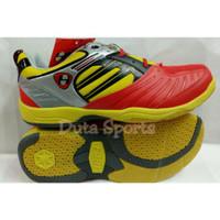 sepatu Badminton Hart HS 503 red/yell