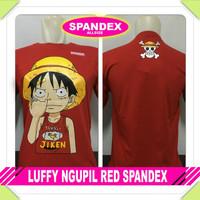 Kaos Anime One Piece Monkey D'Luffy Chibi Merah