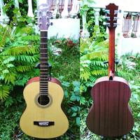 jual gitar akustik non elektrik original rockwell ra10 bkn yamaha ori