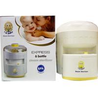 IQ Baby 6 Botol Steril | Botol Susu Bayi Steam Sterilizer Sanitizer