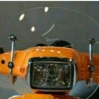 windshield aksesoris vespa metik modern buat vespa S