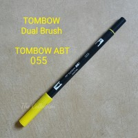 ATK0361DB ABT055 YELLOW Tombow Dual Brush Pen ABT Calligraphy Marker