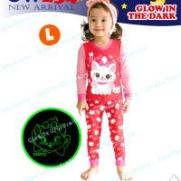 GW254-L - Piyama Anak Glow In The Dark - Marie The Cat 95-140