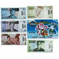 Mainan Edukatif Anak Celengan ATM Mini Happy Bank Robocar Poli Bahasa