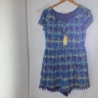 Hammer floral print jumpsuit / short summer dress murah