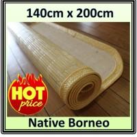 140 x 200 Lampit Saburina, Karpet Anti Alergi, Tikar Handmade Natural