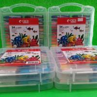 Crayon minyak / oil pastels, 24 warna / 24 colours