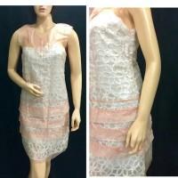 Dress Brukat Import Premium Fashion Wanita Warna Peach
