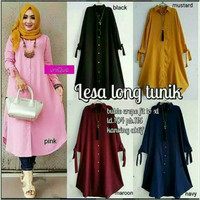 Lesa Long Tunik Jumbo XL Dress/Fashion Mau/Blouse Muslim