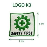 logo baju safety first bordiran