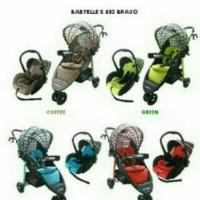 stroller baby elle bravo + car seat