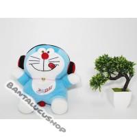 Boneka doraemon headset