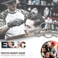 EELIC GUR-PS6INCH -MIX Gunting Potong Rambut Polos + Sasak Stainless S