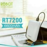 Power Bank Robot Vivan RT7200 6600 mah 2 Port Usb Blue Biru Tosca