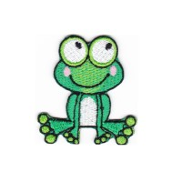 PATCH ON! Iron Patch and Sew CUTE FROG 6X6CM Bordir Tempel Emblem