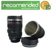 Gelas Tumbler Bentuk Lensa Kamera 400ml - Hitam