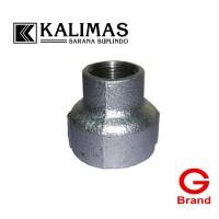 """Reducer / V. Sock Galvanis Besi d. 2"""" x 3/4"""" Drat BSPT (G)"""