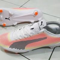 Sepatu Bola Puma Original Terbaru EvoSPEED SL Ceramic FG - White