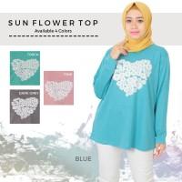 kaos fashion/ kaos muslim/ kaos big size sunflower top