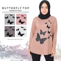 kaos muslim/ kaos fashion/ kaos big size butterfly top