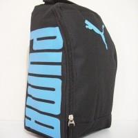 Tas Sepatu Futsal Puma Black Soft Blue D300