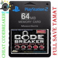 memory card ps2 64MB +FULL SAVE TAMAT & cheat codebreaker game shark