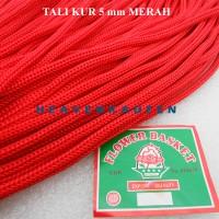 Tali Kur Cord Filamen Besar Diameter 5 mm Merah