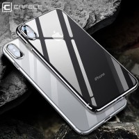 Iphone X Transparan Crystal Clear Jelly Silicone Cafele Soft Case TPU