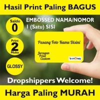 Kartu Etoll Emoney custom print 2 MUKA GLOSSY, Saldo 0, EMBOSS 1 Sisi