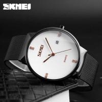 Jam Tangan Original Analog Pria Stainless Steel SKMEI 9164 - Putih