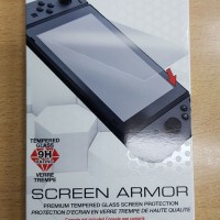 Silver Tempered Glass Screen Protector 9H for Nintendo Switch