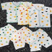 3 Pcs Setelan Baju Celana Pendek Bayi Baru Lahir Newborn Shankusen