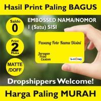Kartu Etoll Emoney custom print 2 MUKA, Saldo 0, EMBOSS TIMBUL 1 Sisi