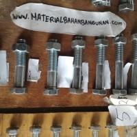 (Dijamin) baut m 22 panjang 100 mm baut besi putih baut 22 x 100 mm