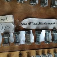 (Dijamin) baut m 20 panjang 55 mm baut besi putih baut 20 x 55 mm