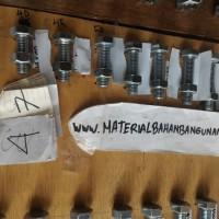(Dijamin) baut m 14 panjang 90 mm baut besi putih baut 14 x 90
