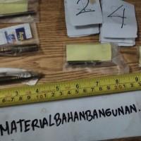 (Dijamin) hanger bolt m 6 panjang 50 mm skrup berkepala baut