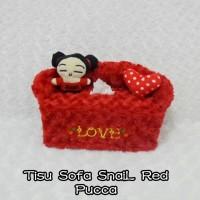 Tempat Tissue / Tisu / BoX Tisu KoTaK SoFa Snail ReD Pucca