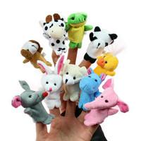 Boneka Jari Tangan hewan / finger puppet animal isi 10 pcs
