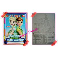 Buku mewarnai colouring dan belajar membaca karakter frozen
